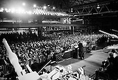 Lima, Ohio<br /> April 24, 2003<br /> <br /> US President George W. Bush speaks to a crowd at the Lima Army Tank Plant. The company manufactures the M1A2 tank used in the Iraqi war.