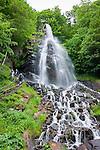 Germany, Thuringia, near Brotterode-Trusetal: Trusetal waterfall, highest of Thuringia Forest, a man-mad attraction | Deutschland, Thueringen, bei Brotterode-Trusetal: der Trusetaler Wasserfall ist der hoechste Wasserfall des Thueringer Waldes und ist eine künstlich angelegte Attraktion