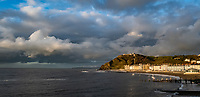 General view of the bay in Aberystwyth, Wales, UK. Sunday 03 November 2019