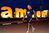 The weather finally cools down enough to allow people to jog in the park at Merdeka Square, the main park in Ambon City, here replete with illuminated letters advertising the island. The 1999-2002 religious war between Maluku's Christian and Muslim populations, mainly centred on Ambon Island, led to over 5000 deaths and to around 500,000 people become displaced. Destroyed homes and offices, churches and mosques are slowly being either torn-down or renovated.  Urban centres, such as Ambon City, continue to be split along largely sectarian lines, and tensions are never far below the surface. Riots between Christian and Muslim youths erupted in September 2011 and, most recently, June 2012, though luckily simmered down just as quickly, partly due to community leaders learning how to defuse tensions from the earlier, more devastating, conflagration. /Felix Features