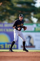 West Virginia Black Bears shortstop Robbie Glendinning (7) during a game against the Batavia Muckdogs on August 5, 2017 at Dwyer Stadium in Batavia, New York.  Batavia defeated Williamsport 3-2.  (Mike Janes/Four Seam Images)