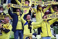 26th May 2021; STADION GDANSK  GDANSK, POLAND; UEFA EUROPA LEAGUE FINAL, Villarreal CF versus Manchester United: The Villarreal suporters celebrate as Gerard Moreno scores for 1-0