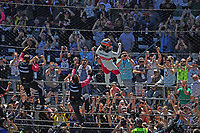 30th May 2021, Indianapolis, Indiana, USA; NTT Indy Car Series driver Helio Castroneves climbs the fence after winning the 105th running of the Indianapolis 500 on May 30, 2021 at the Indianapolis Motor Speedway in Indianapolis, Indiana.