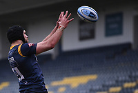 14th February 2021; Sixways Stadium, Worcester, Worcestershire, England; Premiership Rugby, Worcester Warriors versus Wasps; Graham Kitchener of Worcester Warriors wins the lineout ball