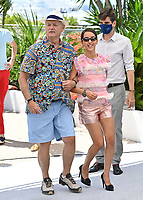 CANNES, FRANCE. July 13, 2021: Bill Murray & Lyna Khoudri at the photocall for Wes Anderson's The French Despatch at the 74th Festival de Cannes.<br /> Picture: Paul Smith / Featureflash