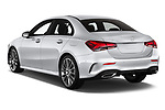 Car pictures of rear three quarter view of 2019 Mercedes Benz A-Class - 4 Door Sedan Angular Rear