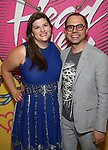 Rachel Routh and Andrew Lazarow attends the Opening Night Performance After Party for  'Head Over Heels' at Gustavino's  on July 26, 2018 in New York City.