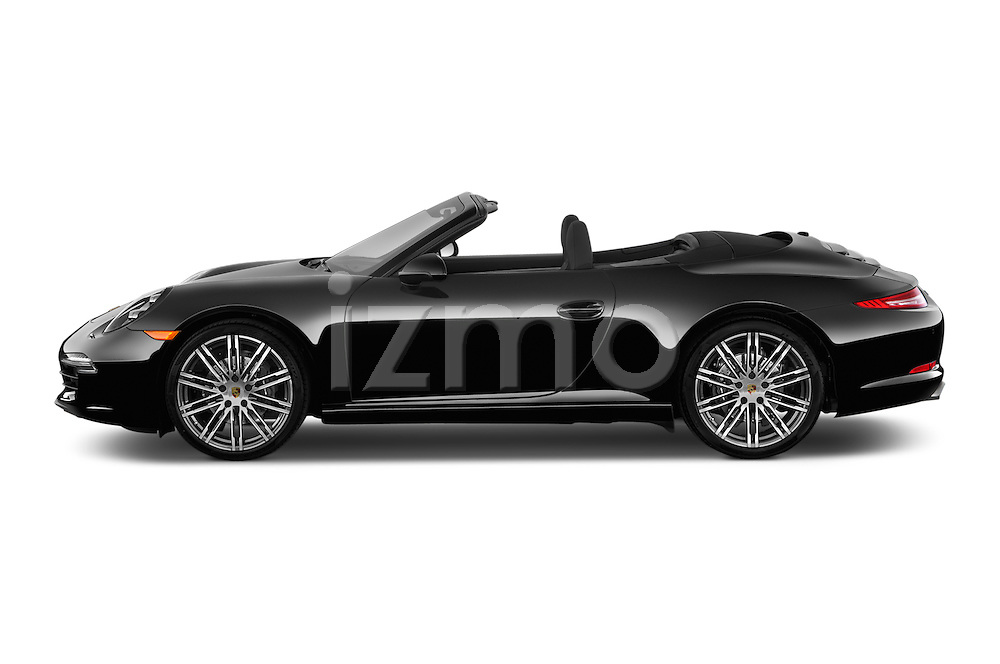 Car Driver side profile view of a 2016 Porsche 911 Black Edition 2 Door convertible Side View