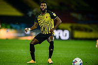 4th November 2020; Vicarage Road, Watford, Hertfordshire, England; English Football League Championship Football, Watford versus Stoke City; Nathaniel Chalobah (Watford) comes forward on the ball