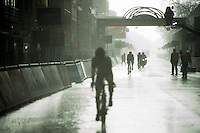 minutes after Sagan won the race on a dry course, rain just pours down in buckets as the last riders come in<br /> <br /> 78th Gent - Wevelgem in Flanders Fields (1.UWT)