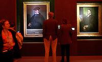 Visitatori della mostra su Sebastiano Del Piombo ammirano i quadri del pittore a Palazzo Venezia, Roma, 19 marzo 2008.. UPDATE IMAGES PRESS/Riccardo De Luca