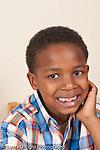closeup portrait of 6 year old boy vertical