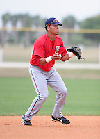 Washington Nationals minor leaguer Ian Desmond during Spring Training at the Carl Barger Training Complex on March 20, 2007 in Melbourne, Florida.  (Mike Janes/Four Seam Images)