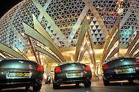 "Luxurious Bentley cars outside The Grand Lisboa in Macau. Macau is known simply as ""Vegas"" in China. The former Portuguese colony, now a Chinese Special Administrative Region, attracts millions of Chinese gamblers annually and last year earned more gambling dollars than Las Vegas.."