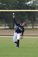 Jayden Smith (6) of Canton, Michigan during the Baseball Factory All-America Pre-Season Rookie Tournament, powered by Under Armour, on January 13, 2018 at Lake Myrtle Sports Complex in Auburndale, Florida.  (Michael Johnson/Four Seam Images)
