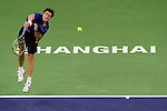 SHANGHAI, CHINA - OCTOBER 12:  Tommy Robredo of Spain serves to Tomas Berdych of Czech Republic during day two of the 2010 Shanghai Rolex Masters at the Shanghai Qi Zhong Tennis Center on October 12, 2010 in Shanghai, China.  (Photo by Victor Fraile/The Power of Sport Images) *** Local Caption *** Tommy Robredo