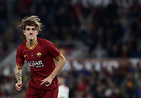 Football, Serie A: AS Roma - AC Milan, Olympic stadium, Rome, October 27, 2019. <br /> Roma's Nicolò Zaniolo celebrates after scoring during the Italian Serie A football match between Roma and Milan at Olympic stadium in Rome, on October 27, 2019. <br /> UPDATE IMAGES PRESS/Isabella Bonotto