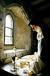 Nuns at Burnham Abbey, an Anglican Contemplative  Augustinian Community of Sister of the Precious Blood. Maidenhead Berkshire. Cleaning the Abbey silver. 1989, 1980s UK.