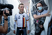 Tony Martin (DEU/Jumbo-Visma) enjoying his very last pro race<br /> <br /> Mixed Relay TTT <br /> Team Time Trial from Knokke-Heist to Bruges (44.5km)<br /> <br /> UCI Road World Championships - Flanders Belgium 2021<br /> <br /> ©kramon
