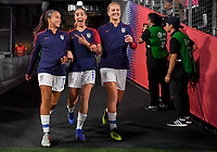 Carson, CA -  Friday August 31, 2018: The women's national teams of the United States (USA) and Chile (CHI) play in an International friendly game at StubHub Center.