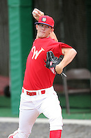 July 4th 2008:  Pitcher Tyler Cloyd (15) of the Williamsport Crosscutters, Class-A affiliate of the Philadelphia Phillies, during a game at Bowman Field in Williamsport, PA.  Photo by:  Mike Janes/Four Seam Images