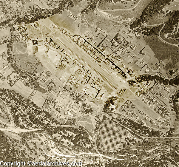 historical aerial photograph of Carmel Valley, Monterey County, California, 1966