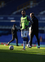 9th January 2021; Goodison Park, Liverpool, Merseyside, England; English FA Cup Football, Everton versus Rotherham United; Cenk Tosun of Everton warms up before the kick off