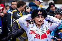 Evie Richards (GBR), post race<br /> <br /> Women's Elite Race<br /> UCI 2020 Cyclocross World Championships<br /> Dübendorf / Switzerland<br /> <br /> ©kramon