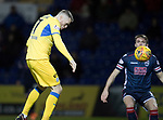 Ross County v St Johnstone…27.12.17…  Global Energy Stadium…  SPFL<br />Denny Johnstone heads in the goal fro saints<br />Picture by Graeme Hart. <br />Copyright Perthshire Picture Agency<br />Tel: 01738 623350  Mobile: 07990 594431