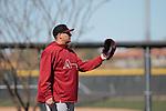 Mexican David Hernadez de Arizona during the Spring Trainig 2013 in Sports Complex Salt River Fields at Talking Stick in Arizona. February 24, 2013