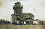 St Louis MO:  A view of the New York to the North Pole ride at the Louisiana Purchase Exposition.  The ride took 20 minutes and simulated going on a ship to the North Pole; complete with snow and wind.
