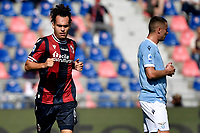 Arthur Theate of Bologna FC celebrates after scoring the goal of 2-0 during the Serie A football match between Bologna FC and SS Lazio at Renato Dall'Ara stadium in Bologna (Italy), October 3rd, 2021. Photo Andrea Staccioli / Insidefoto