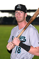 Jupiter Hammerheads third baseman Colin Moran (18) poses for a photo before a game against the Bradenton Marauders on June 25, 2014 at McKechnie Field in Bradenton, Florida.  Bradenton defeated Jupiter 11-0.  (Mike Janes/Four Seam Images)