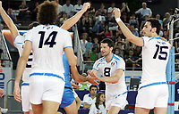 esultanza di Alberto Cisolla, Emanuele Birarelli e Alessandro Fei (Italia).<br /> Italia vs Russia 1-3<br /> Girone B, World League Volley<br /> Palalottomatica, Roma, 28 Giugno Roma<br /> Photo Antonietta Baldassarre Insidefoto
