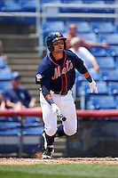 Binghamton Mets second baseman L.J. Mazzilli (7) at bat during a game against the Richmond Flying Squirrels on June 26, 2016 at NYSEG Stadium in Binghamton, New York.  Binghamton defeated Richmond 7-2.  (Mike Janes/Four Seam Images)