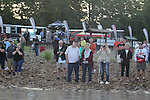 Fans packed the Brady Mountain takeoff ramp before the start of day one of the Forrest Wood Cup. Aug 20 August 20, 2015: Lake Ouachita in Hot Springs, AR. Justin Manning/ESW/CSM
