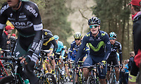 Carlos Betancur (COL/Movistar) up the (new) Côte de la Ferme Libert<br /> <br /> 103rd Liège-Bastogne-Liège 2017 (1.UWT)<br /> One Day Race: Liège › Ans (258km)