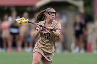NEWTON, MA - MAY 16: Cassidy Weeks #12 of Boston College looks to pass during NCAA Division I Women's Lacrosse Tournament second round game between Temple University and Boston College at Newton Campus Lacrosse Field on May 16, 2021 in Newton, Massachusetts.