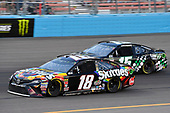 Monster Energy NASCAR Cup Series<br /> TicketGuardian 500<br /> ISM Raceway, Phoenix, AZ USA<br /> Sunday 11 March 2018<br /> Kyle Busch, Joe Gibbs Racing, Toyota Camry Skittles Sweet Heat and Ross Chastain, Premium Motorsports, Chevrolet Camaro LowT Center<br /> World Copyright: Rusty Jarrett<br /> NKP / LAT Images