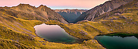 Dusk over pristine Hinapouri Tarns, Nelson Lake National Park, South Island, New Zealand, NZ
