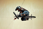 Dennis McCoy competes in the BMX Freestyle Vert finals during X-Games 12 in Los Angeles, California on August 4, 2006.