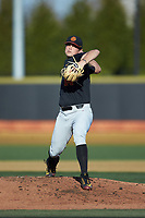 USC Trojans starting pitcher Mitch Hart (14) in action against the Wake Forest Demon Deacons at David F. Couch Ballpark on February 24, 2017 in  Winston-Salem, North Carolina.  The Demon Deacons defeated the Trojans 15-5.  (Brian Westerholt/Four Seam Images)