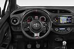 Car pictures of steering wheel view of a 2018 Toyota Yaris GRMN 3 Door Hatchback