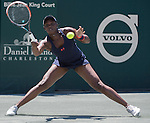 April  9, 2016:  Sloane Stephens (USA) defeated Angelique Kerber (GER) (retired) 6-1, 3-0, at the Volvo Car Open being played at Family Circle Tennis Center in Charleston, South Carolina.  ©Leslie Billman/Tennisclix/Cal Sport Media
