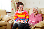 Ciss O'Connor from Tralee who had her cataract operation in Belfast and was helped by Kaylee O'Connor who was also in Belfast and her operation was cancelled and she stayed and assisted Ciss.