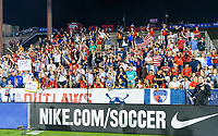 FRISCO, TX - MARCH 11: The American Outlaws cheer on the USWNT against Japan during a game between Japan and USWNT at Toyota Stadium on March 11, 2020 in Frisco, Texas.