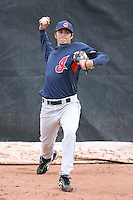 March 20th 2008:  Travis Turek of the Cleveland Indians minor league system during Spring Training at Chain of Lakes Training Complex in Winter Haven, FL.  Photo by:  Mike Janes/Four Seam Images