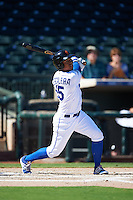 Surprise Saguaros Alfredo Escalera (15), of the Kansas City Royals organization, during a game against the Glendale Desert Dogs on October 22, 2016 at Surprise Stadium in Surprise, Arizona.  Surprise defeated Glendale 10-8.  (Mike Janes/Four Seam Images)