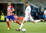 Real Madrid's Cristiano Ronaldo (r) and Atletico de Madrid's Gabi Fernandez during UEFA Champions League 2015/2016 Final match.May 28,2016. (ALTERPHOTOS/Acero)