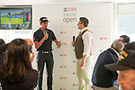 Rafael Cabrera Bello of Spain visits the UBS Pavilion during the 58th UBS Hong Kong Golf Open as part of the European Tour on 08 December 2016, at the Hong Kong Golf Club, Fanling, Hong Kong, China. Photo by Marcio Rodrigo Machado / Power Sport Images